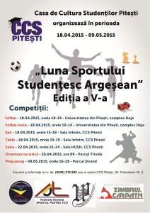 Afis Luna Sportului